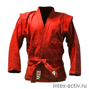 Куртка для самбо Green Hill JS-302 (рост 0/130, красный, р.32)