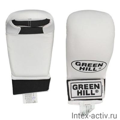 акладки для карате Green Hill Cobra KMC-6083-L-WH р.L белые