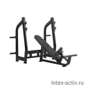Скамья для жима с положительным наклоном Bronze Gym H-025 (черный)
