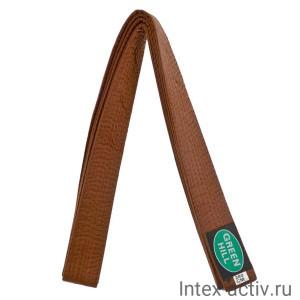 Пояс для карате коричневый Green Hill KBO-1014 (коричневый, р.280)
