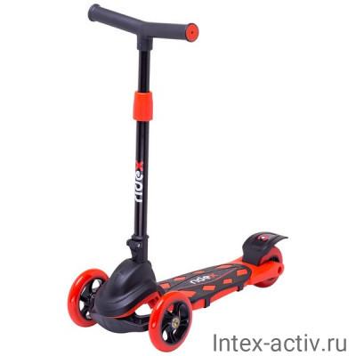 Самокат 3-колесный Ridex Robin 3D 120/90 мм, красный