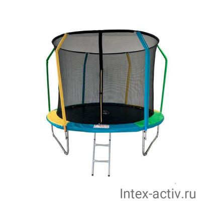 Батут SportElite FLY FR-60 10FT (3,05м) с защитной сеткой и лестницей