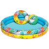 Бассейн детский с надувным кругом и мячом BestWay 51124 (122х20см) 2+