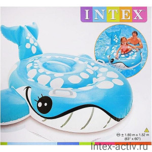 """Надувной плотик Intex 57527 """"Голубой кит"""" 3+"""