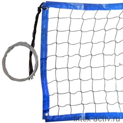 Сетка для пляжного волейбола FS№20 8,5х1м черная