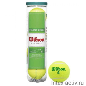 Мяч теннисный WILSON Starter Green Play арт.WRT137400 4шт.