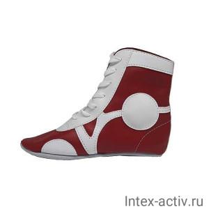 Самбовки Rusco Sport SM-0102 (нат. кожа, красный, р.34)