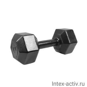 Гантель (1 шт) гексагональная литая Shigir 12 кг