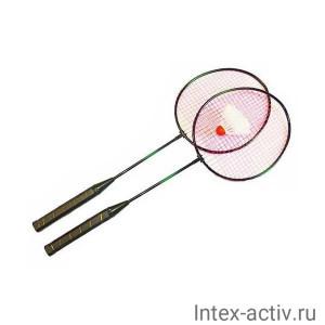 Набор для бадминтона HS-001 (2 ракетки, волан, чехол-сетка)