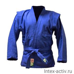 Куртка для самбо Green Hill JS-302 (рост 0/130, синий, р.32)