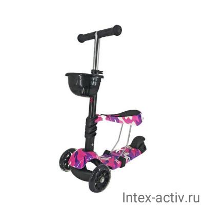 Самокат 3-х колесный 3 в1 SportElite SE100 граффити