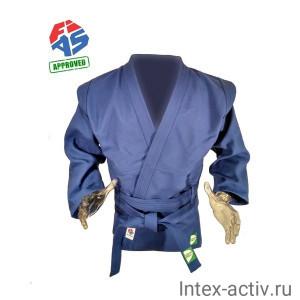 Куртка для самбо Green Hill JS-303-56-BL (рост 6/190, синий, р.56)
