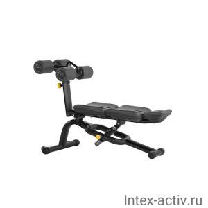 Скамья для пресса регулируемая Bronze Gym H-034A (черный)