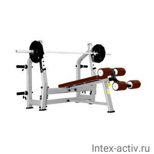 Скамья для жима с отрицательным наклоном Bronze Gym J-024 (коричневый)
