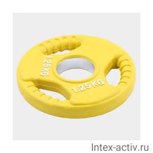 Олимпийский диск евро-классик с тройным хватом Oxygen 1.25 кг
