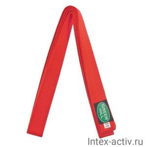 Пояс для карате красный Green Hill KBO-1014 (красный, р.280)