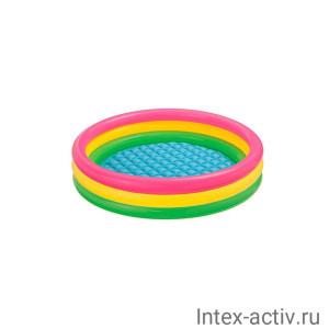 Надувной детский бассейн Intex 57107NP Sunset Glow Baby Pool