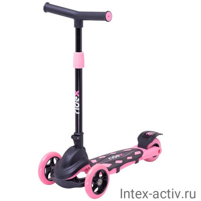 Самокат 3-колесный Ridex Robin 3D 120/90 мм, розовый