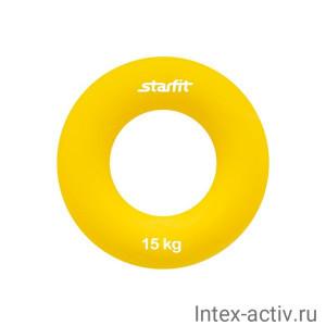 """Эспандер кистевой StarFit ES-403 """"Кольцо"""" 15 кг жёлтый"""