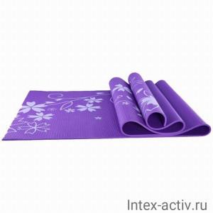 Коврик для йоги и фитнеса YL-Sports BB8303 (173*61*0,4см) с принтом, фиолетовый