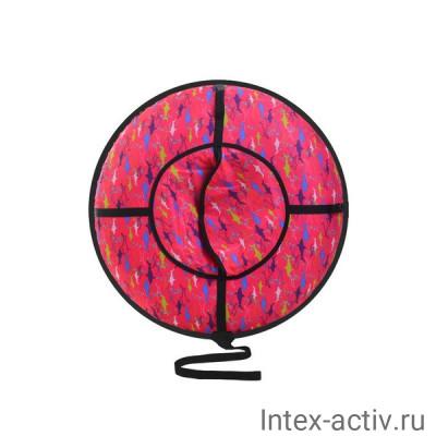 """Санки надувные """"Ватрушка"""" серия ДИЗАЙН с молнией ВСД/6М 120см"""