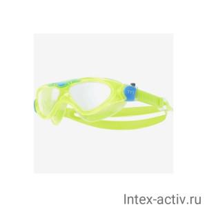 Маска для плавания TYR Rogue Swim Mask Youth, LGRSMKD/892, зеленый