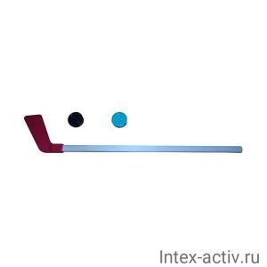 Клюшка детская хоккейная КХ-1-55 80 см +2 шайбы