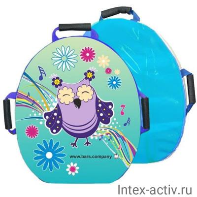 """Санки-ледянка мягкая """"Snowkid"""" 50 см (Сова Маня)"""