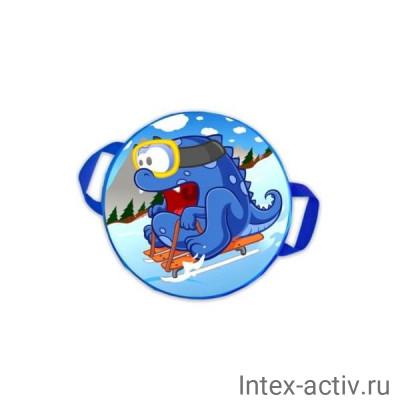 "Санки-ледянки № 76 ""Дракон на санках"" d-45см"