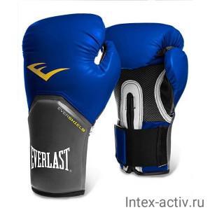 Перчатки боксерские Everlast Pro Style Elite 2208E 8 унций к/з синие