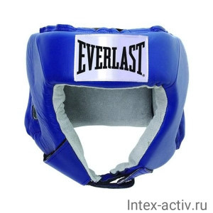 Шлем открытый Everlast USA Boxing 610406U кожа синий р.L