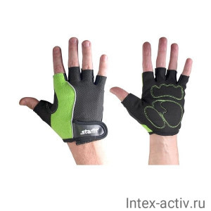 Перчатки для фитнеса STARFIT SU-108 зеленые/черные р.L