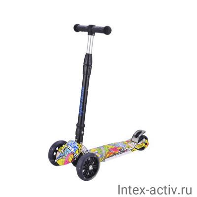 Самокат 4-х колесный SportElite SE520 граффити