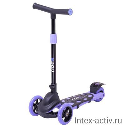 Самокат 3-колесный Ridex Robin 3D 120/90 мм, фиолетовый
