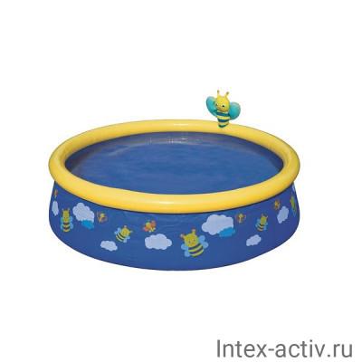Бассейн с надувным бортом Bestway 57326 (152х38см)