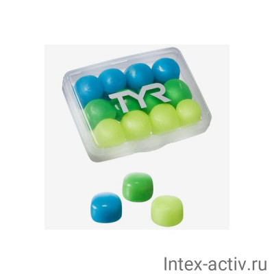 Беруши TYR Kids' Soft Silicone Ear Plugs, LEPY12PK/970 (мультиколор)