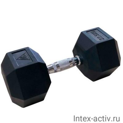 Гантели DFC DB001-22.5 (2 шт) гексагональные обрезиненные 22.5 кг