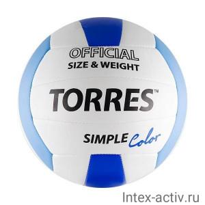 Мяч волейбольный Torres Simple Color арт. V30115 р.5
