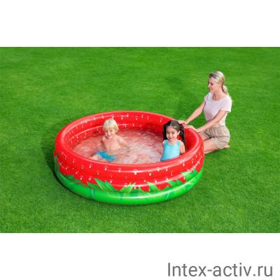 Бассейн детский BestWay 51145 Сладкая клубничка (160х38см) 2+