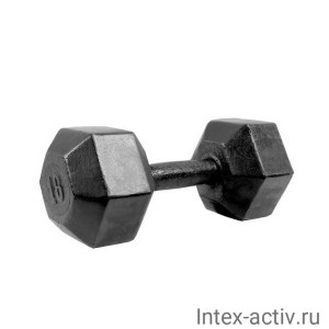 Гантель (1 шт) гексагональная литая Shigir 18 кг