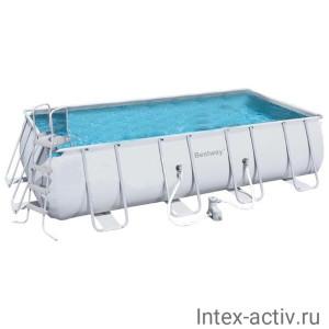 Каркасный бассейн Bestway Rectangular Power Steel Frame 56457/56244 (4.12х2.01х1.22 м)