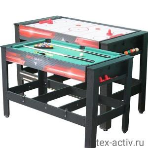 """Игровой стол - аэрохоккей/бильярд DFC """"DRIVE"""" 2 в 1"""