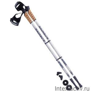 Палки для скандинавской ходьбы Berger Rainbow 77-135 см 2-секционные, серый/белый