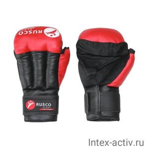 Перчатки для рукопашного боя 12 унций красные Rusco