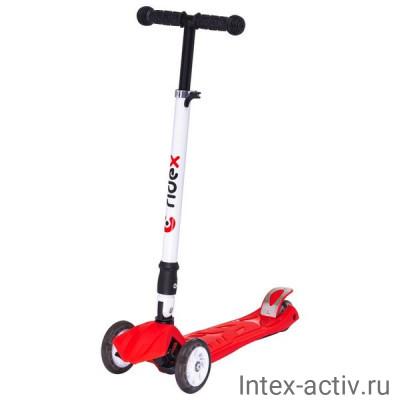 Самокат 3-колесный Ridex Smart 3D 120/80 мм красный