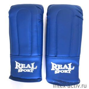 Перчатки тренировочные REALSPORT р.M синий