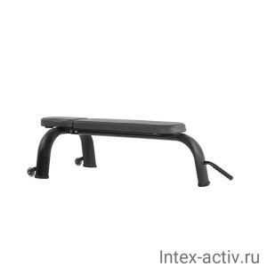 Скамья горизонтальная Bronze Gym H-036 (черный)