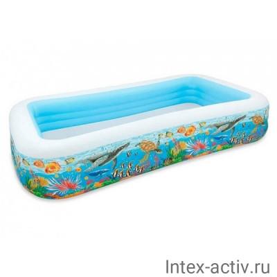 """Семейный надувной бассейн Intex 58485NP """"Морской"""" (305x183x56см)"""