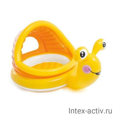 Бассейн с навесом детский Intex 57124 Улитка (145x102x74cм) 1-3 года