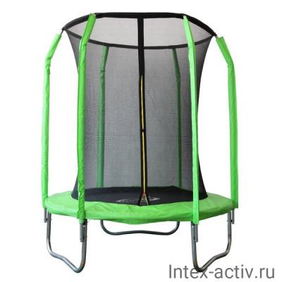 Батут SportElite GB30201-6 FT (1,83м) фиберглас, с защитной сеткой внутрь, салатовый
